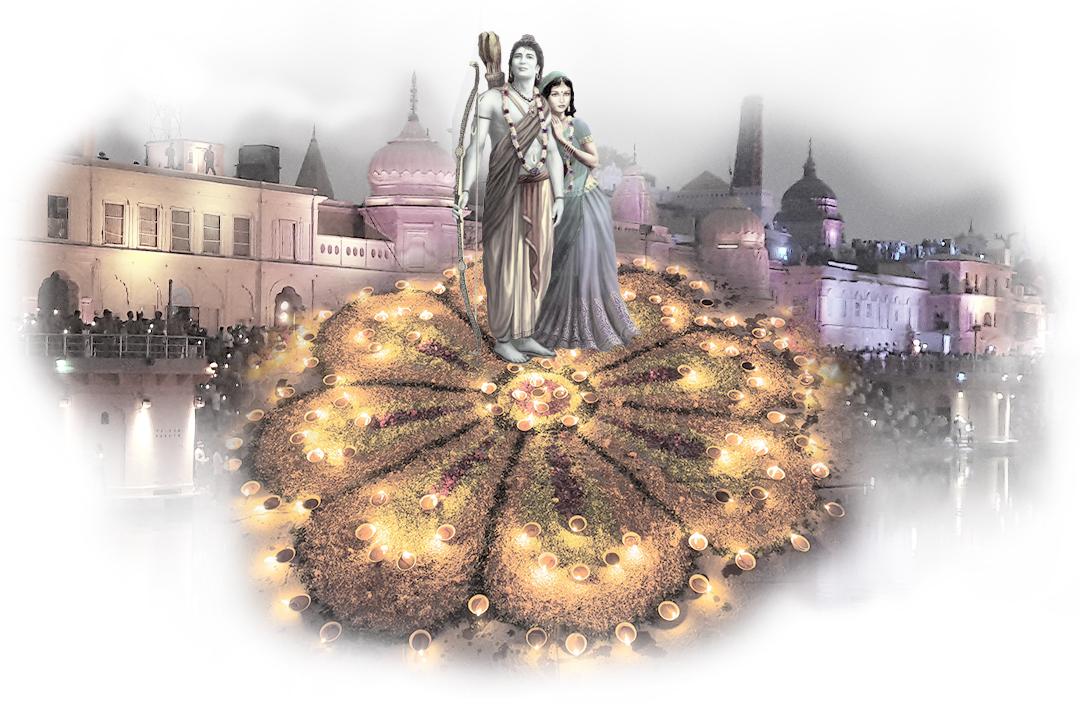 Sita y Rama en Diwali