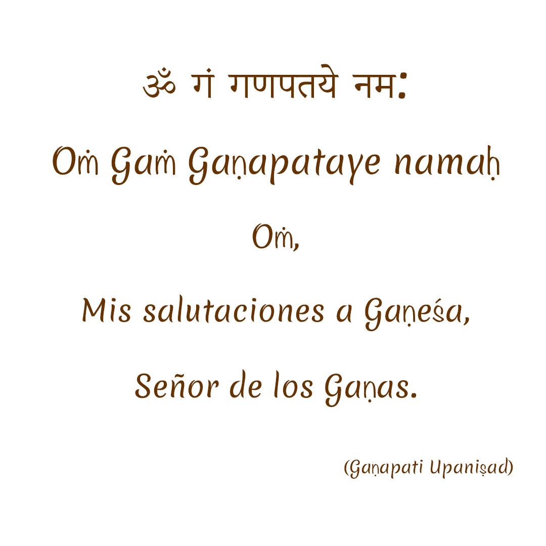 Salutaciones a Gaṇeśa